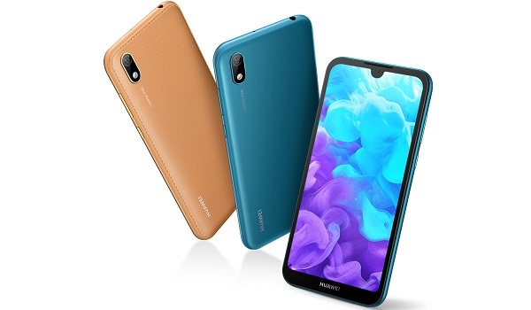 Huawei Y5 2019 with faux leather finish