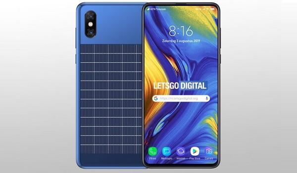 Xiaomi smartphone with integrated solar panel