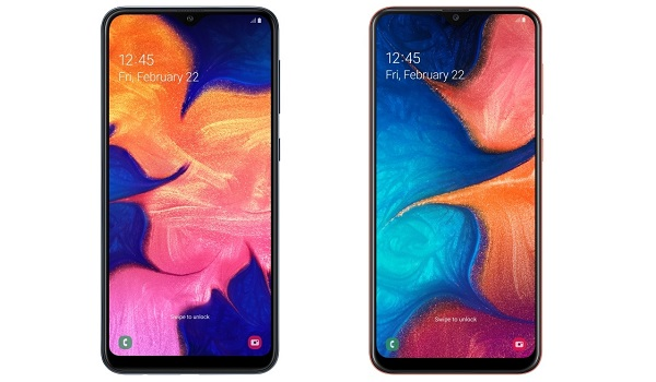 Samsung Galaxy A20 and Samsung Galaxy A10 2019 comparison