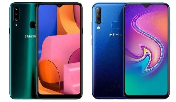 Samsung Galaxy- 20s vs Infinix s4 comparison