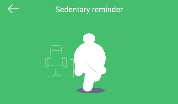 Oraimo joywear 2 sedentary reminder