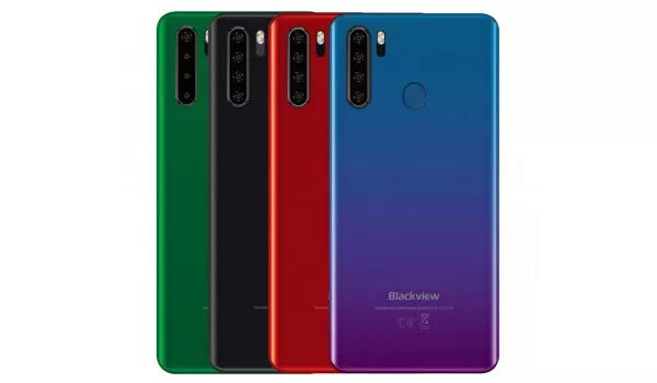 Blackview A80 Pro lineup of colours