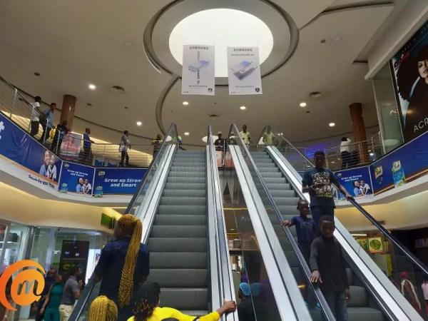Ikeja city mall escalator captured with Oppo A9 2020
