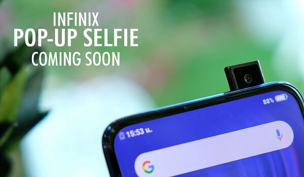 first infinix smartphone with a pop-up camera