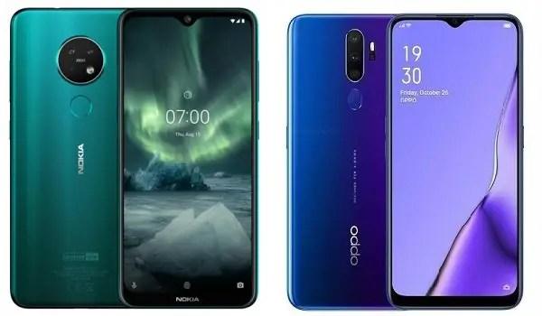 Nokia 7.2 or OPPO A9 2020 comparison