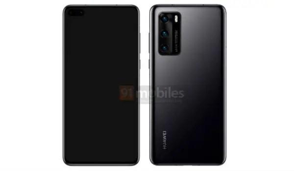 Huawei P40 series render