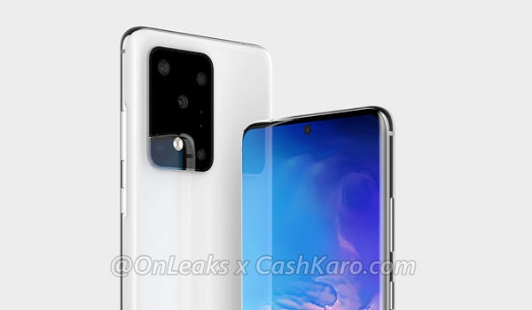 Samsung-Galaxy S20 Plus Render by OnLeaks