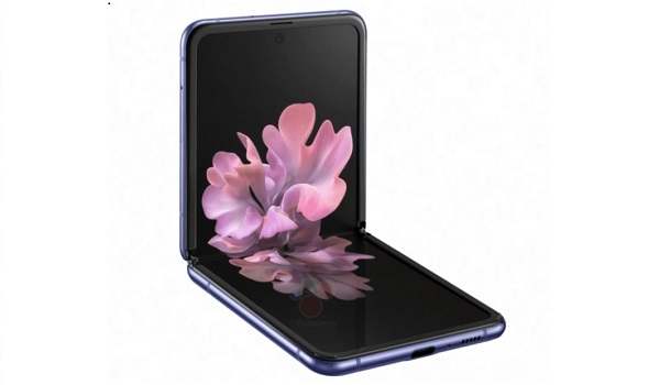 Samsung Galaxy Z Flip open flower on screen