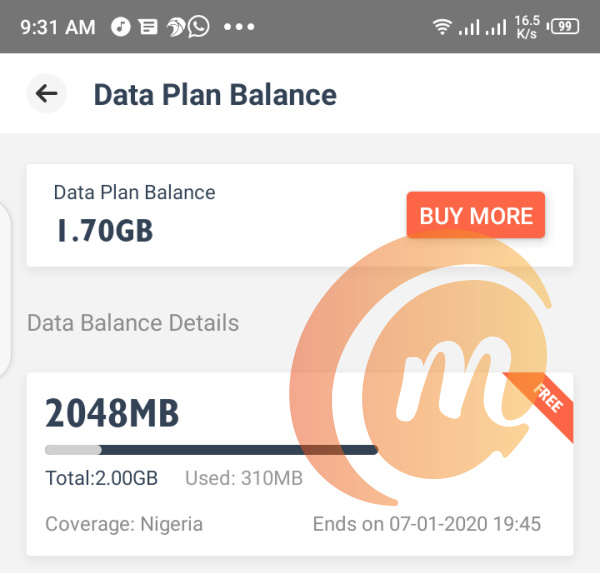 SIMO free data on TECNO Camon 12