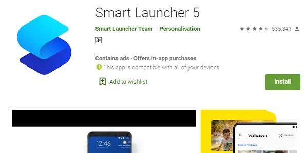 The Smart Launcher 5 app. best android launchers