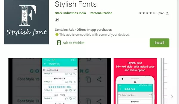 The Stylish Font app