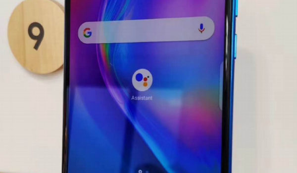 TECNO CAMON 12 PRO with the Google Assistant Button displayed at the Google booth