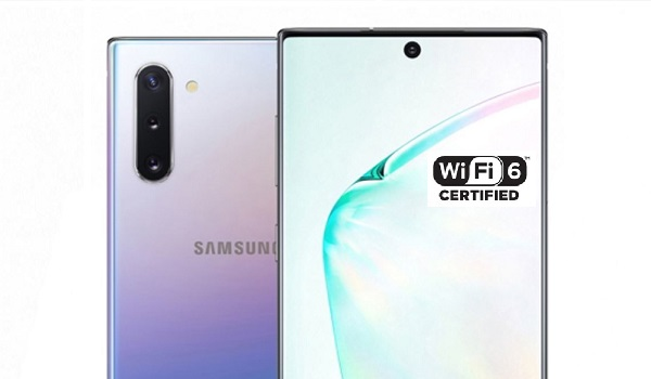 Samsung note 10 is one of the first wifi 6 phones