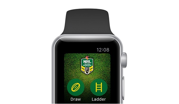 NRL official app on Apple Watch