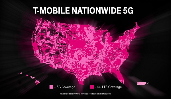T-Mobile 5G cities list coverage