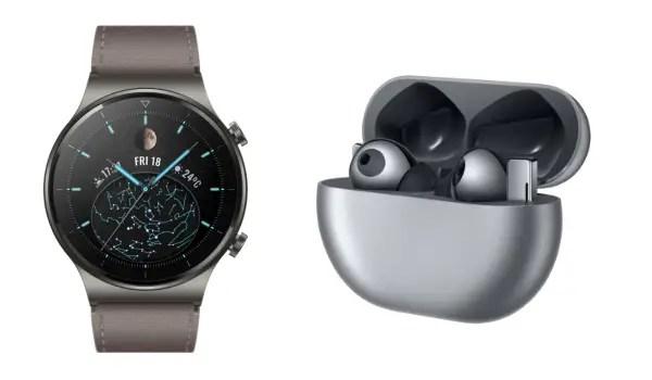 Huawei Watch GT 2 Pro smartwatch and Huawei FreeBuds Pro earbuds