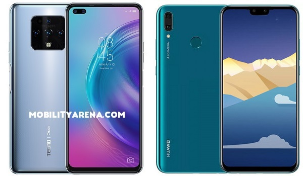 TECNO Camon 16 Premier vs Huawei Y9 2019 comparison