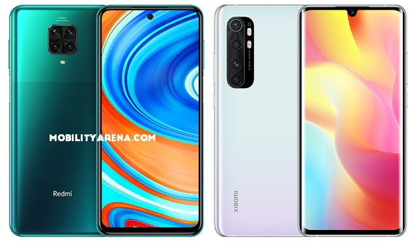 Xiaomi Redmi Note 9 Pro vs Mi Note 10 Lite comparison