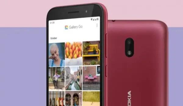 Nokia C1 Plus top