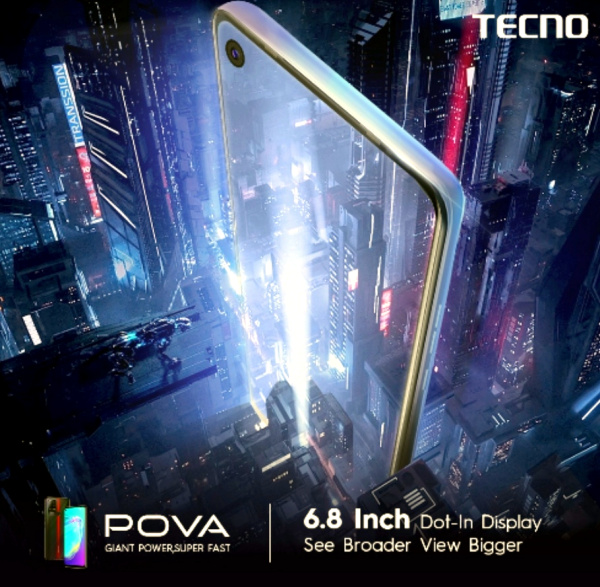 TECNO pova 6.8 inch display