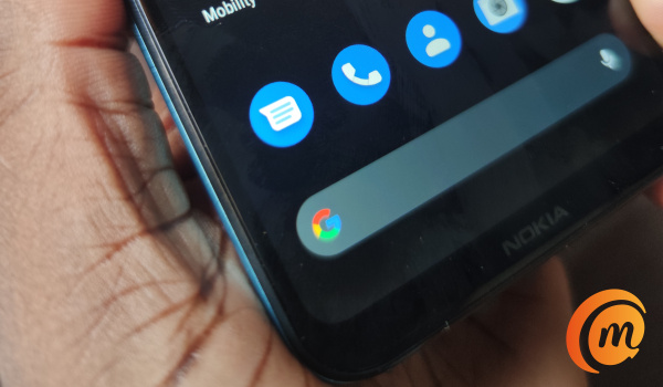 Nokia 3.4 review bottom edge display