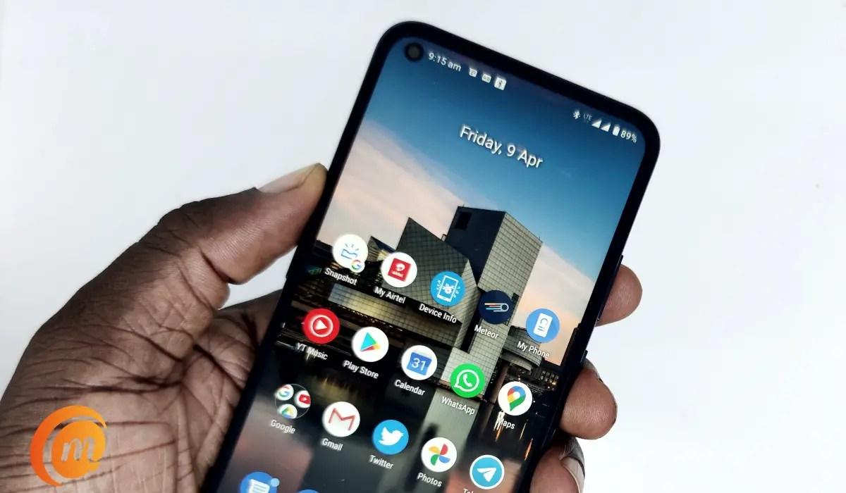 Nokia 5.4 in hand