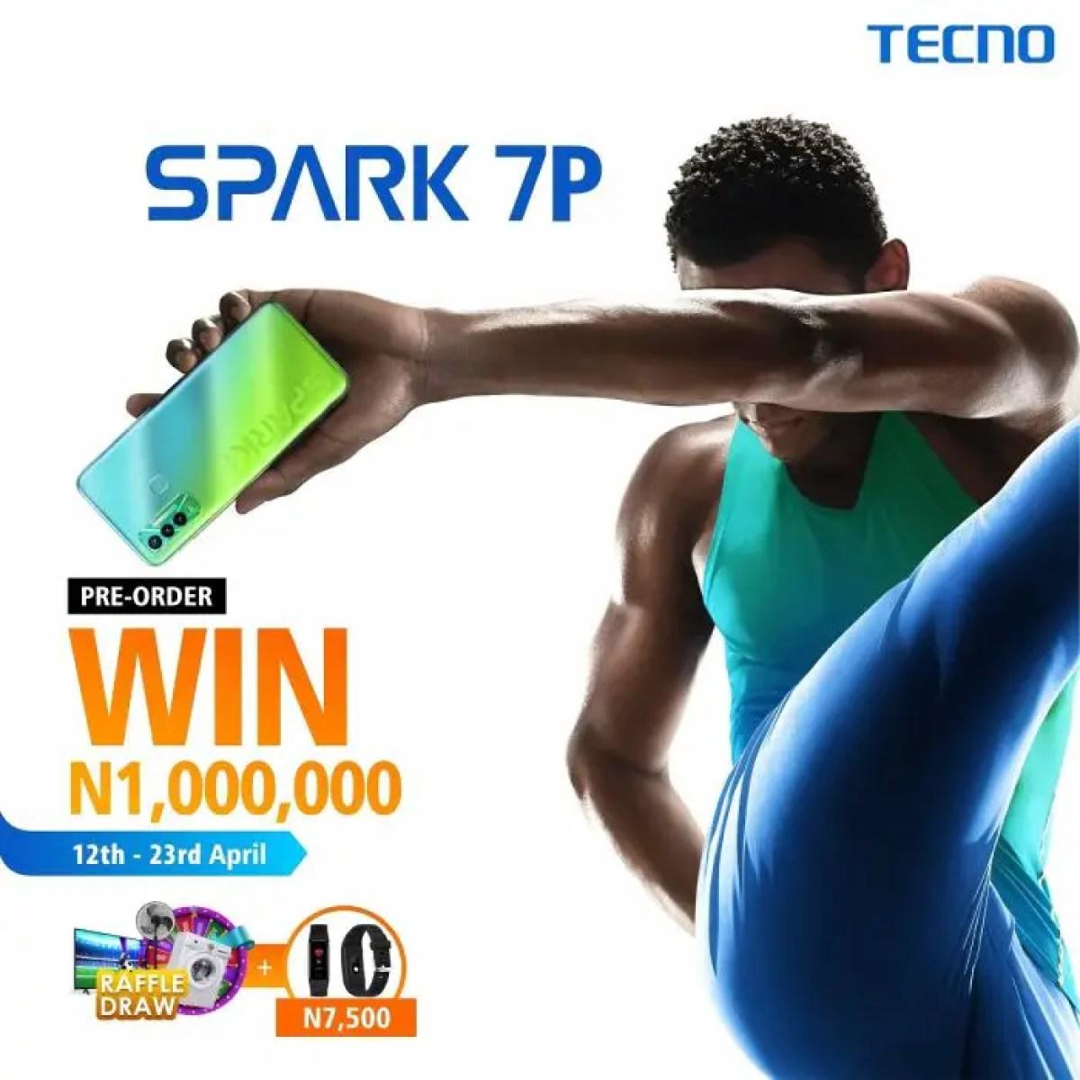 TECNO Spark 7P green pre-order win