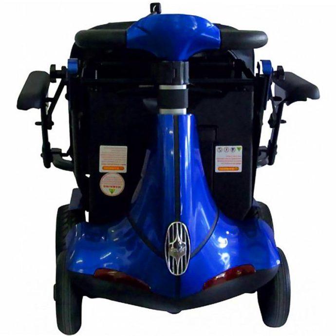 mobie plus folding scooter blue front view