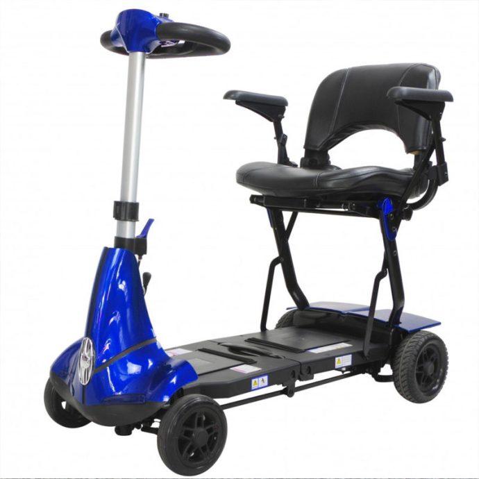 mobie plus folding scooter blue
