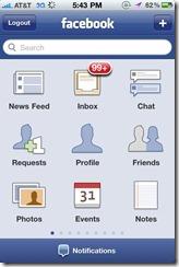 iphone facebook