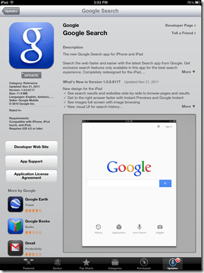 Google Search gets updated for iPad and iPhone | MobilityDigest