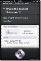 Siri thinks Lumia as the best