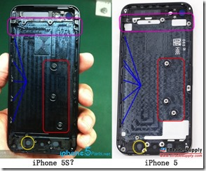 iPhone 5S parts pictured already