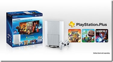 New PS3 Bundle offers 500GB, PSN Plus and white console