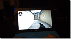 Microsoft Surface Pro running Counter-Strike Global Offensive