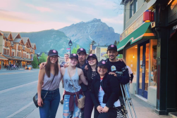 Mobilizers in the town of Banff