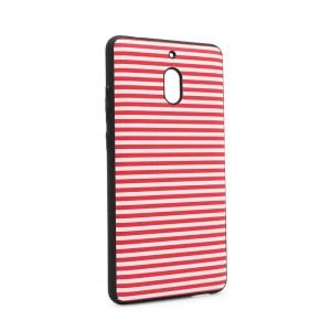 Maska Luo Stripes za Nokia 2.1 2018 crvena