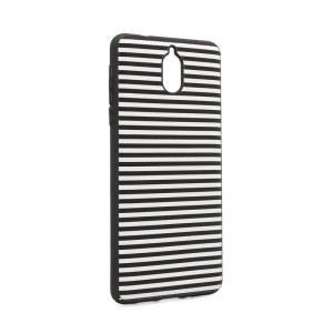 Maska Luo Stripes za Nokia 3.1 2018 crna