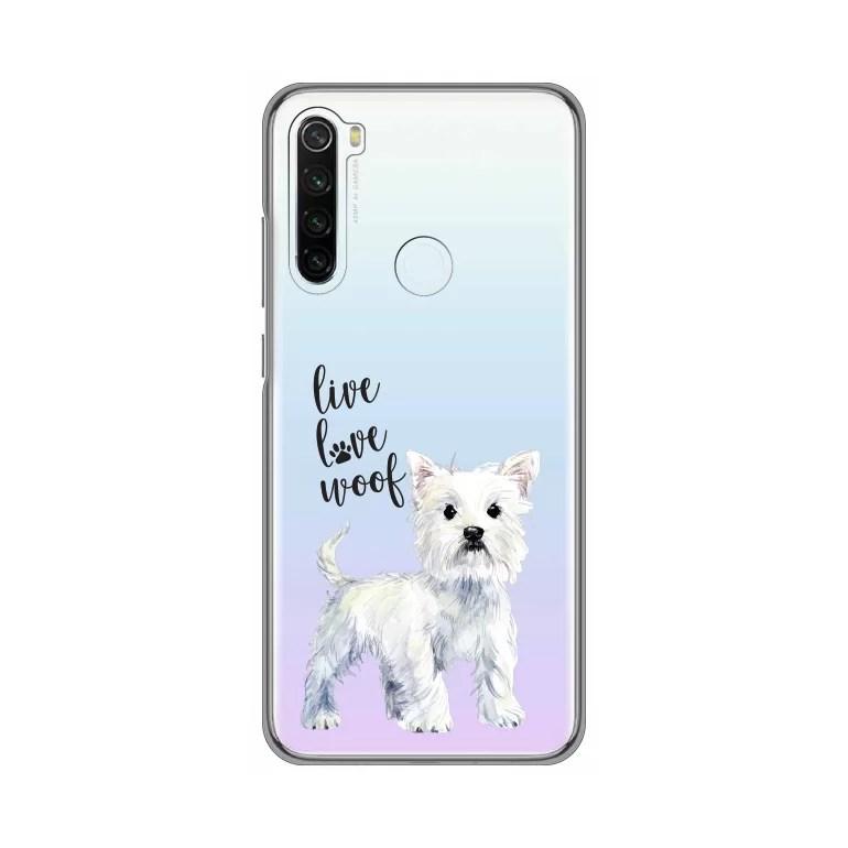 Maska Silikonska Print Skin za Xiaomi Redmi Note 8T Live Love Woof