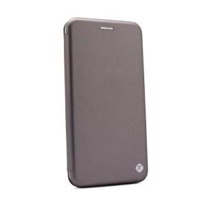 Maska Teracell Flip Cover za Motorola Moto One Action srebrna
