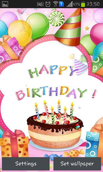 Happy Birthday Fur Android Kostenlos Herunterladen Live Wallpaper Alles Gute Zum Geburtstag Fur Android