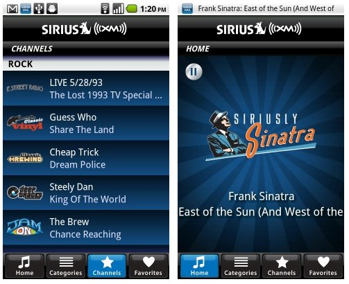 Sirius XM Satellite radio app now available for Android