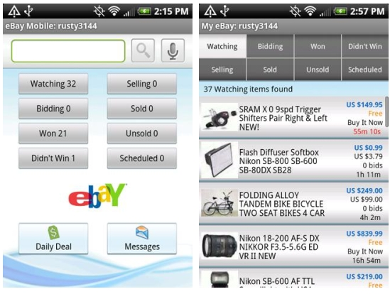 Ebay Launches Android Ipad Apps Internationally Mobiputing