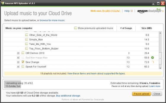 Amazon Cloud Drive: Store 5GB of MP3s online and stream to Android
