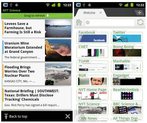 Dolphin Browser HD 6 Webzine