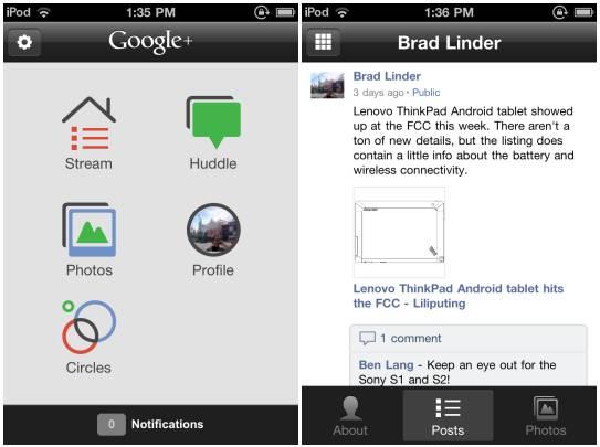 Google Plus for iOS