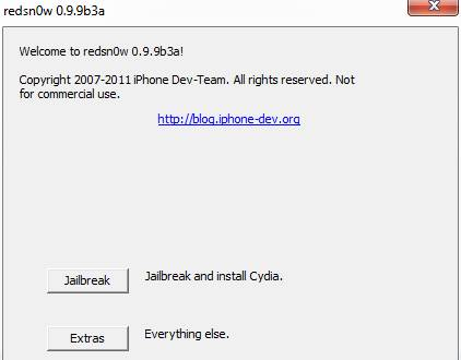 Jailbreak iOS 5 with redsn0w