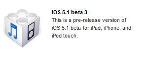 iOS 5.1 beta 3