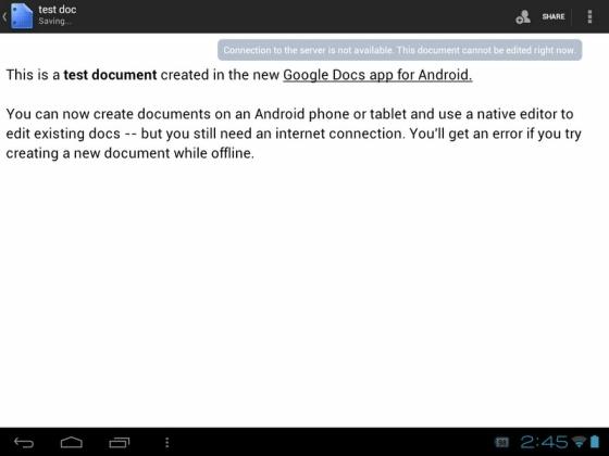 Google Docs editing