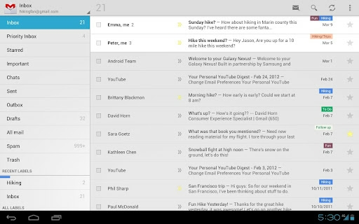 Gmail for Android 4.0